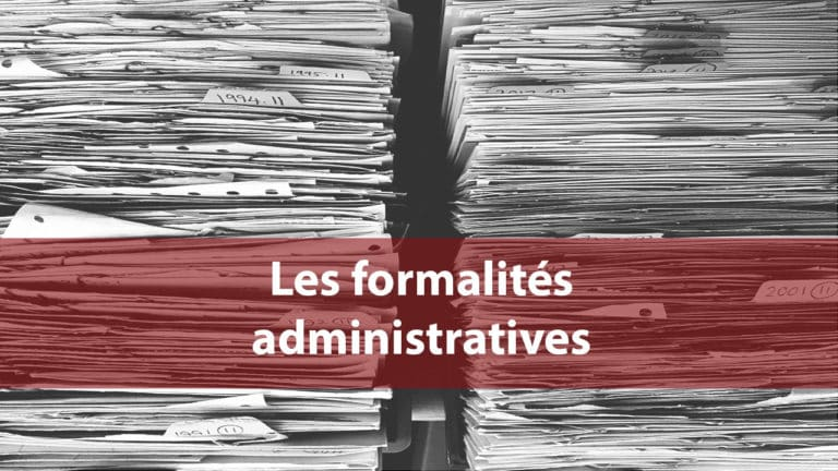 les formalites administratives  Expert comptable Paris